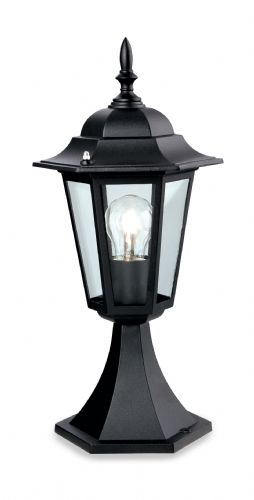 Firstlight P103BK Black 6 Panel Lantern - Pillar